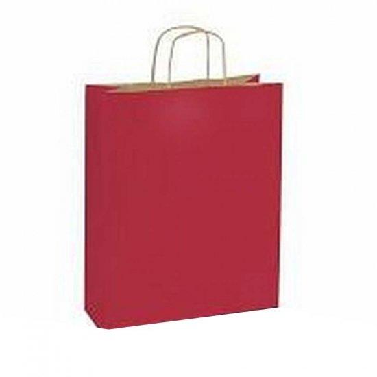 10 stuks Papieren draagtassen rood bruin