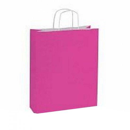 10 stuks Papieren draagtassen roze