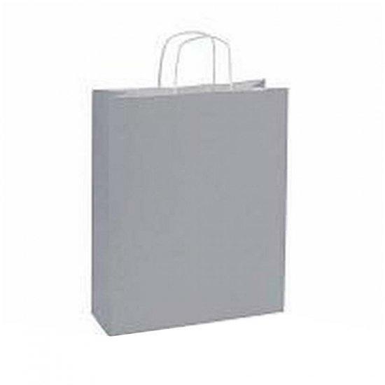10 stuks Papieren draagtassen grijs