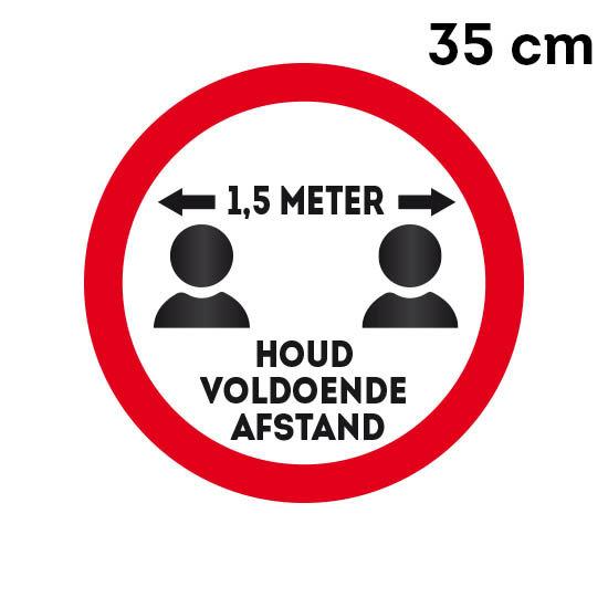 001 sticker 1,5 meter 35 cm Rood of Geel
