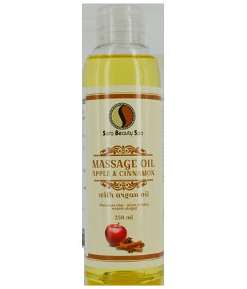 Massage olie appel & Cinnamon (argan) 250ml