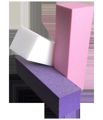 Blok vijl Wit/Roze/paars