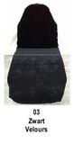 zwart_  Hoezen voor armleuning velours 2 st.