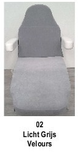 licht grijs_  Hoezen voor armleuning velours 2 st.