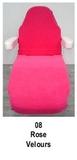 roze_  Hoezen voor armleuning velours 2 st.