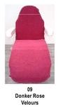 donker roze_  Hoezen voor armleuning velours 2 st.