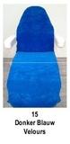 donker blauw_  Hoezen voor armleuning velours 2 st.
