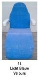 licht blauw_  Hoezen voor armleuning velours 2 st.