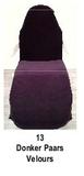 donker paars_  Hoezen voor armleuning velours 2 st.