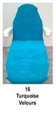 turquoise_  Hoezen voor armleuning velours 2 st.