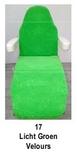 licht groen_  Hoezen voor armleuning velours 2 st.