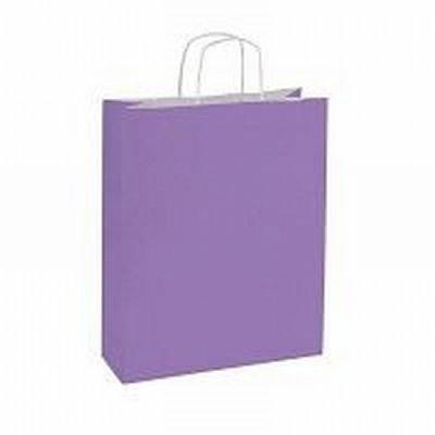 10 stuks Papieren draagtassen lila