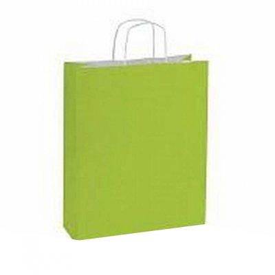 10 stuks Papieren draagtassen lime groen