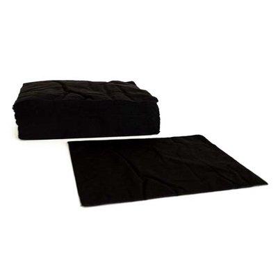 Wegwerp handdoek eco 50st: 70 x 50 zwart