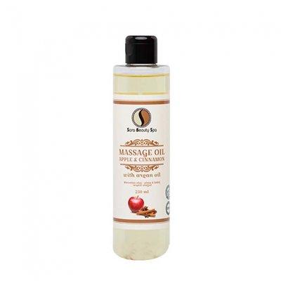Sara Beauty Spa Massage olie appel & Cinnamon (argan) 250ml