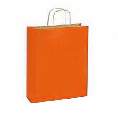 10 stuks Papieren draagtassen oranje