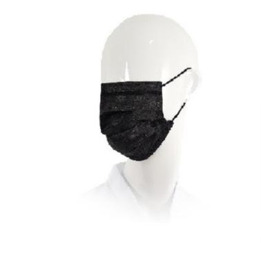 Mondmasker ZWART 50x wegwerp