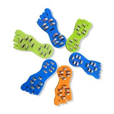 6 voetjes met teenringen