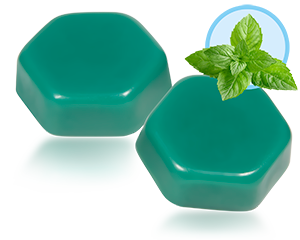 Harsblokken 1kg blauw/groen
