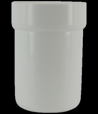 Wit potje met deksel, voorlopig niet leverbaar